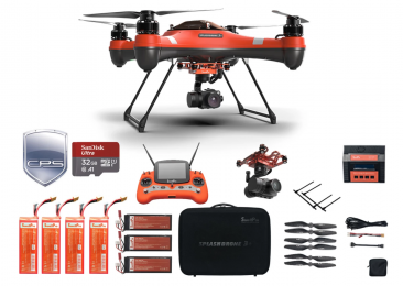 Splash Drone 3 Plus Film Bundle w/ Free Insurance & Memory Card