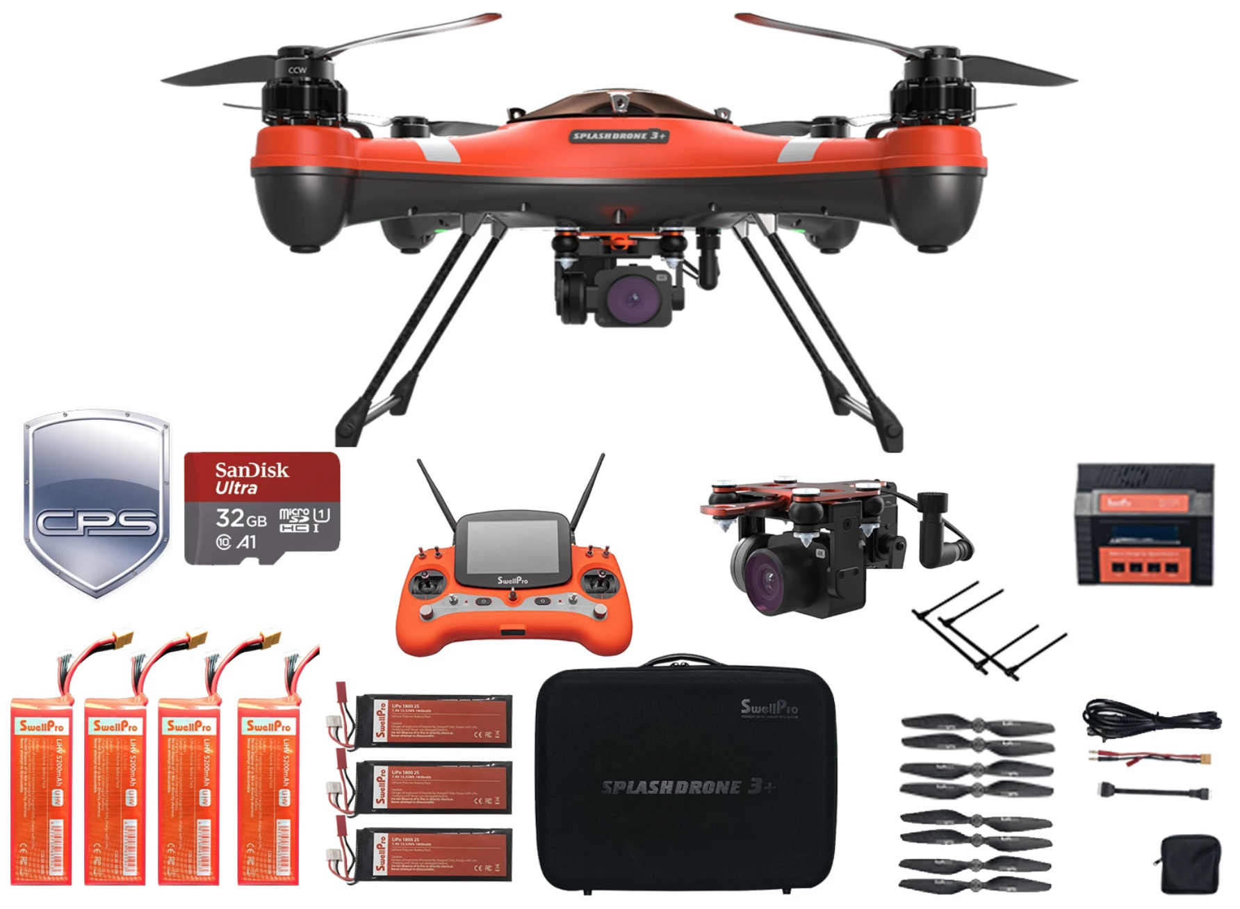 Splash Drone 3 Plus Fishing Bundle Premium w/ Free Insurance