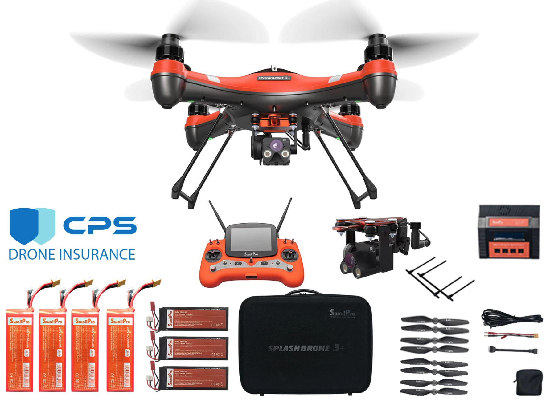 Splash Drone 3 Plus PL4 Night Camera Fishing Bundle
