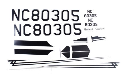 Decal Set; Beechcraft RC Airplane