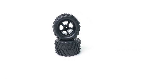 Tire/Wheel; Mounted and Glued (pr): R18MT RC Truck