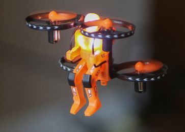 Jetpack Commander Drone for Kids, Night Ranger, Ready to Fly (Color: Orange)
