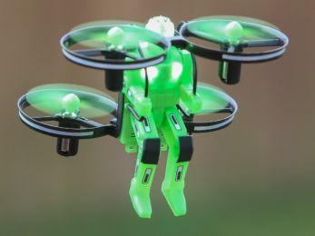 Jetpack Commander Drone for Kids, Night Ranger, Ready to Fly (Color: Green)